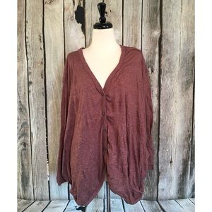 Free People FP Beach Slouchy Button Up Cardigan
